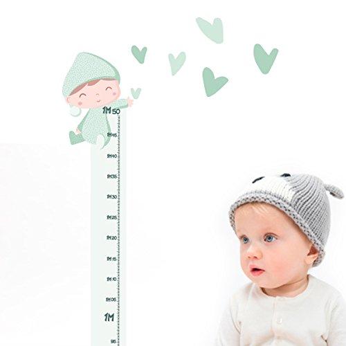 StarStick - Medidor infantil - Bebé besitos - Verde menta