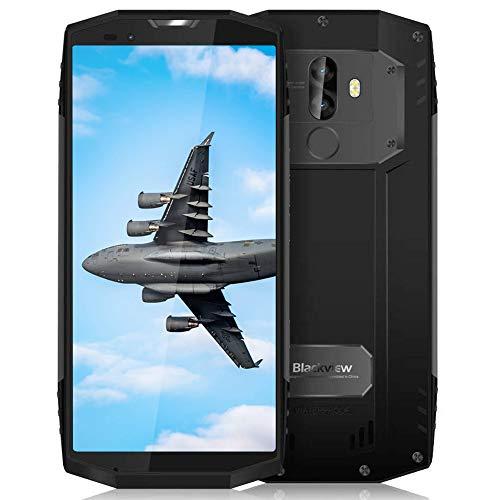 Blackview BV9000 Pro Movil antigolpes, 128 GB + 6 GB (18: 9) 5.7 Pulgadas FHD + Pantalla, 13 MP + 5MP + 8MP Móvil Resistente, Helio P25 Procesador, 4G Smartphone Dual SIM, GPS, NFC, Face ID, Gris
