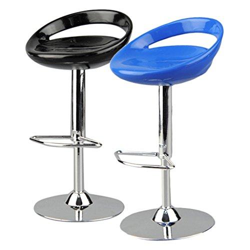 F Fityle 2pcs 1/6 Drehstuhl Barhocker Pub Hocker Stuhl für 12 ''Actionfigur - Schwarz Blau (Stück Pub Stuhl 2)