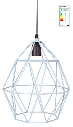 Pendellampe Diamant hellblau Industrial-Charme (Home Depot Pendelleuchte)