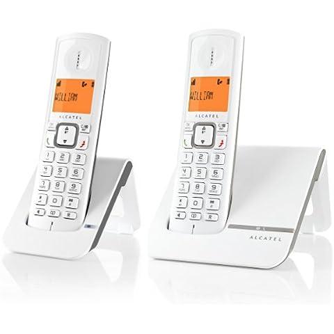Alcatel Versatis F 230 Freestyle DUO - Kit de 2 teléfonos fijos digitales inalámbricos, gris [importado]