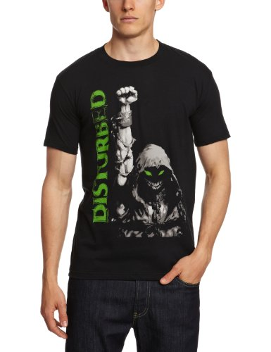 Bravado - Disturbed - Up Your Fist, T-shirt da uomo,  manica corta, nero(black), S