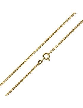 Ankerkette 333 / 8 Karat Gelbgold Diamantiert Breite 1,30mm Unisex Goldkette Collier Halskette NEU