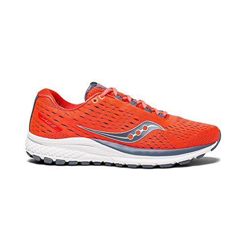 Saucony Women Jazz 20 Neutral Running Shoe Running Shoes Orange - Grey 5