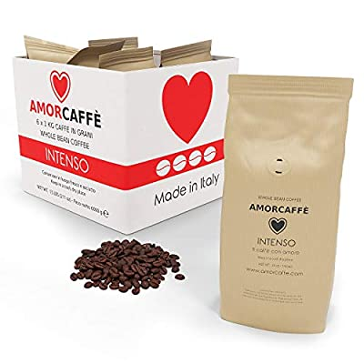 Amorcaffe Intenso Taste Coffee Beans (6 Packs of 1kg) - 6 kg from Amorcaffe