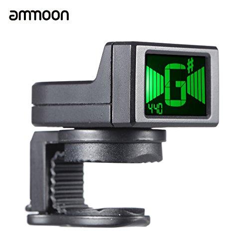ammoon at-08 Mini Digitale LCD clip-on accordatore per la chitarra elettrica acustica basso Ukulele Violino Cromatica