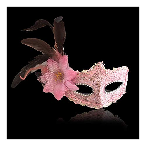 SCLMJ Halloween Ball Maske Lady Fashion Seite Gefiederte Spitze Halbe Gesichtsmaske, ()