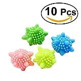 OUNONA Waschbälle Waschekugel Kunststoff Trocknerbälle für Waschmaschine 10pcs (Mischfarben)