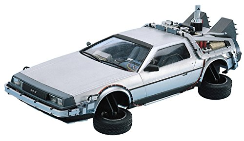 DeLorean DMC 12 Back to the Future 2 in 1:24 Model Kit Bausatz Aoshima 011867 -