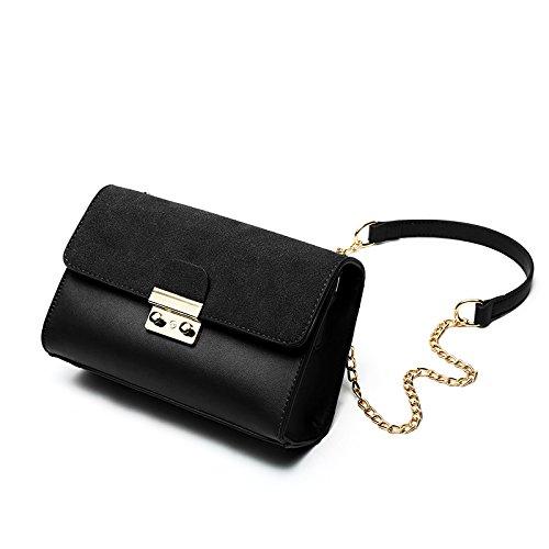 Syknb Einzelne Umhängetasche Handtasche Kette Kleine Tasche Passt Einfach Alles Black