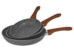 Scheffler 3tlg Pfannen Set in Granit / Keramik Beschichtigung Pfannenset sales by JOLTA® (Silber)