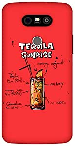 The Racoon Lean Cherry Tequila Sunrise hard plastic printed back case / cover for LG G5