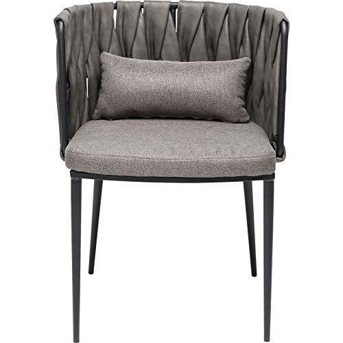 Kare Design - Chaise Design Grise Simili Cuir CHEERIO