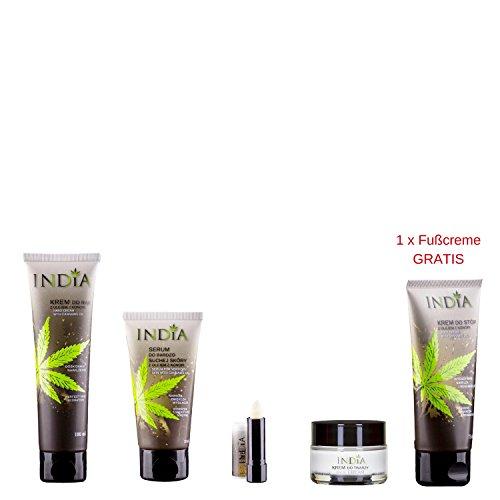 Hautpflege Premium Beauty Set mit Cannabis Öl bestehend aus 4 Pflegeprodukten plus 1 Produkt gratis
