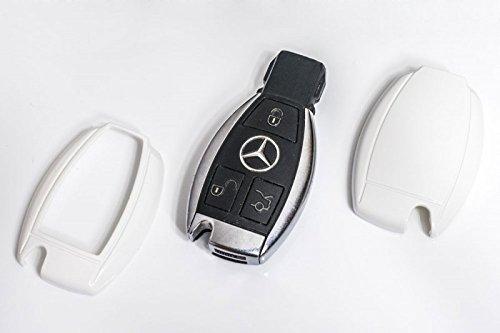 Mercedes-silikon-schlüssel-abdeckung (Key Cover Schlüssel Hülle Abdeckung Weiß)