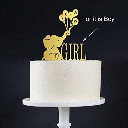 Cute Seine a girlboy Tortenaufsatz, Elefant Baby Dusche, Elefant, Tortendekoration, IT 'S A BOY Tortenaufsatz, Baby Sprinkle Decor, Geschlecht