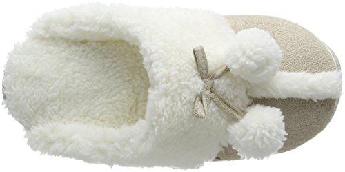 Totes - Totes Ladies Suedette Mule Slipper, Pantofole Donna Beige (Beige (Natural))