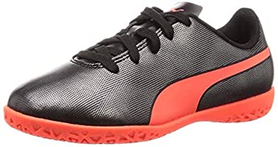 Puma Unisex's Rapido It Jr Black-nrgy Red Ag Football Shoe
