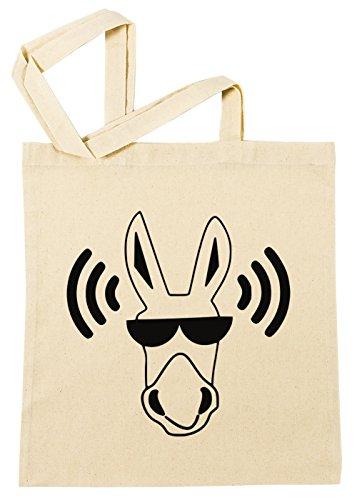 Esel Yolo Brille Einkaufstasche Wiederverwendbar Strand Baumwoll Shopping Bag Beach Reusable