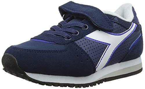 Diadora malone s ps, scarpe da ginnastica unisex – bambini, multicolore (blu denim scuro 60033), 33 eu