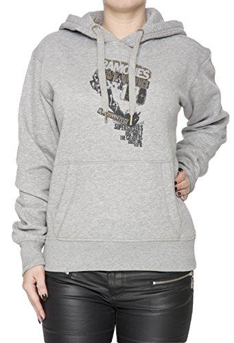 Ramones Donna Grigio Felpa Felpa Con Cappuccio Pullover Grey Women's Sweatshirt Pullover Hoodie