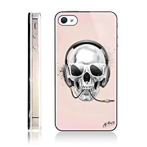 Coque iphone 4/4S Skull DJ nacre