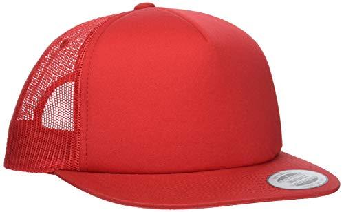 Flexfit Foam Trucker Cap, Red, One Size A-flex-fitted-caps