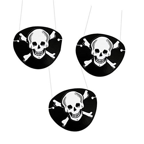 Pirat Schatzsuche Damen Kostüm Für Erwachsene - Oblique Unique® 12 x Piraten Augenklappen aus Filz - Seeräuber Fasching Karneval Piratenkostüm Geburstag