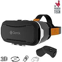 """QANTIK - COSMO 2, casque de réalité vrituelle et augmentée pour smartphone Iphone et Android, de 4"""" à 6""""avec télécommande bluetooth. Pour films 3D, 360 et Jeux Vidéos"""
