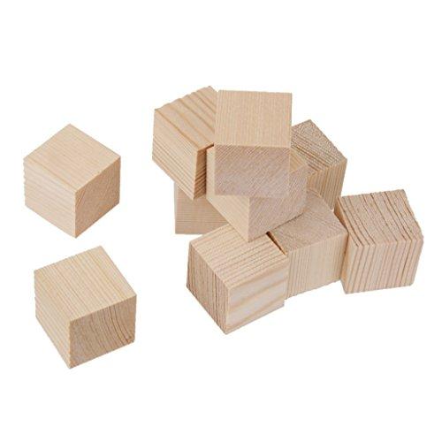 10pcs Cubos Madera Juguete Educativo Natura Adorno