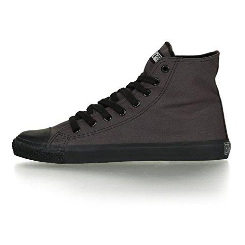 Ethletic Black Cap vegan HiCut - Farbe pewter grey / black aus Bio-Baumwolle Größe 39 - 3