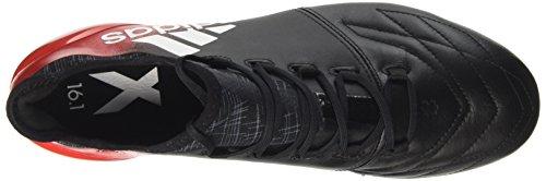 adidas X 16.1 Leather Fg, Chaussures de Futsal Homme Multicolore (Cblack/ftwwht/red)