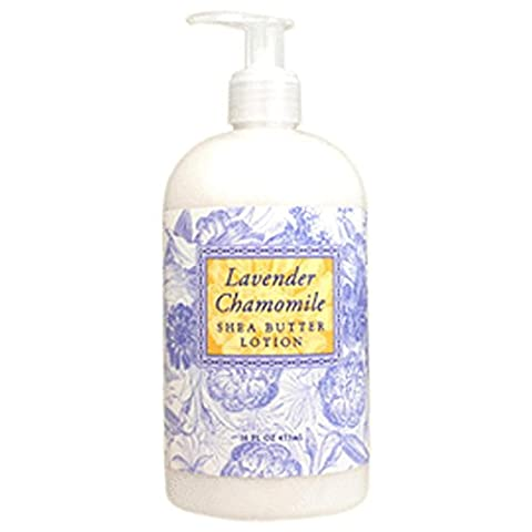 Greenwich Bay Lavender Chamomile Hand & Body Lotion, with Cocoa Butter and Shea Butter Lotion for Dry Skin, Normal Skin, Sensitive Skin-Lavender Chamomile Essential Oils-All Natural No Parabens American Made-16 Oz. by Greenwich Bay Trading Company