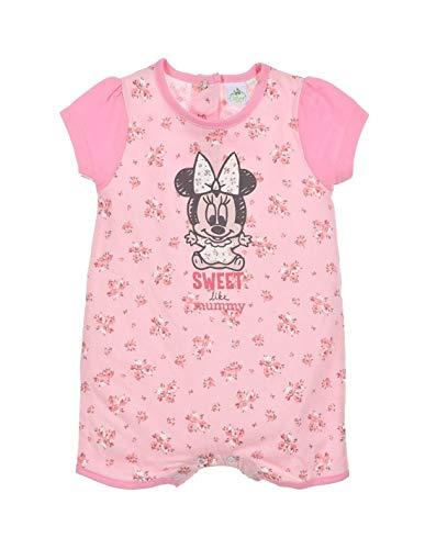 Coffret Barboteuse bébé fille Minnie Blanc et Rose de 6 à 24mois - Rose, 9 44bd97c45d1