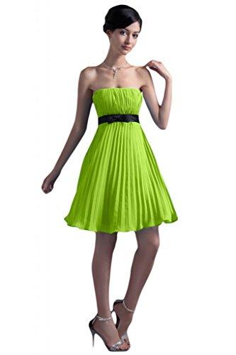 Sunvary semplice Chiffon Vestito corto senza spalline abito vestito da damigella d'onore per feste Green