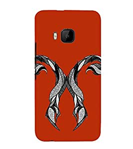 Fiobs Designer Phone Back Case Cover HTC One M9 :: HTC One M9S :: HTC M9 ( Bat Tattoo Art )