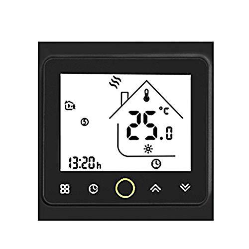 FESTNIGHT Termostato Wi-Fi per Caldaia a Gas, Termostato Digitale Display LCD Touchscreen Controllo Vocale e App Termostato Intelligente Compatibile con Alexa/Google Home per Casa Hotel
