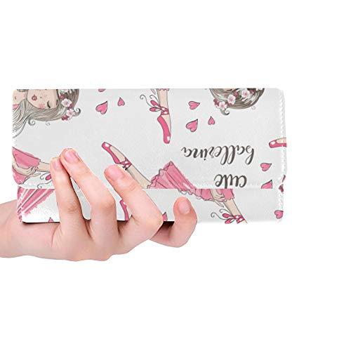 Monedero de Bloqueo RFID Monedero de Embrague para niñas Bailarina Beuty Vestido Colorido para Hombre...