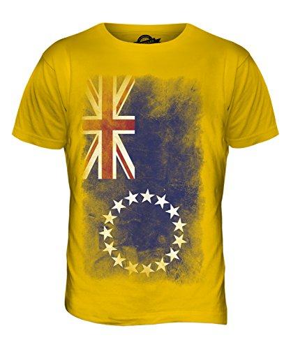 CandyMix Cookinseln Verblichen Flagge Herren T Shirt Dunkelgelb