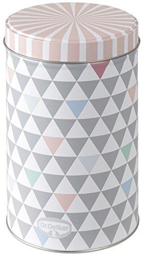 """Dr. Oetker Gebäck- und Aufbewahrungsdose 1,3 L, Vorratsdose aus der Serie """"Modern Baking - Retro Design"""" (Farbe: Bunt), Menge: 1 Stück"""