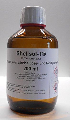 200 ml Shellsol-T®,Terpentinersatz, geruchloses, aromafreies Lösemittel und Pinselreiniger...