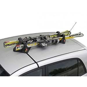 Porte-skis Magnétique pour Volkswagen Touareg II - (de 2010 => ...) - 2 paires de skis avec antivol - Motorparadise