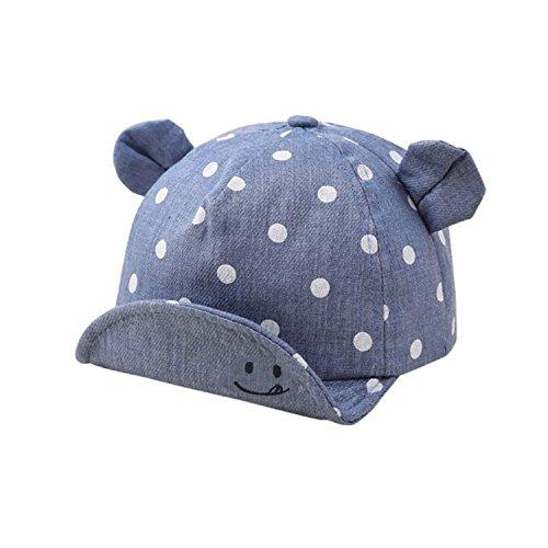 Baby Junge Mädchen Kinder Kleinkind Mütze Baseball Tupfen Cap Hut Sonnenschutz Yalatan
