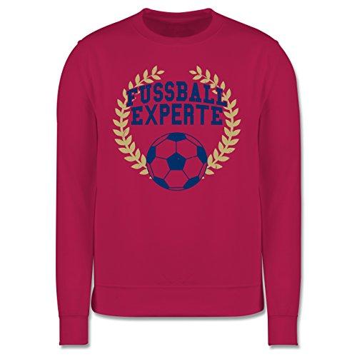 Fußball - Fussball Experte - Herren Premium Pullover Fuchsia