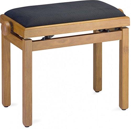 Stagg PB39 OAKM VBK Klavierbank Eiche matt mit schwarzer Samtplatte - Eiche Tastatur