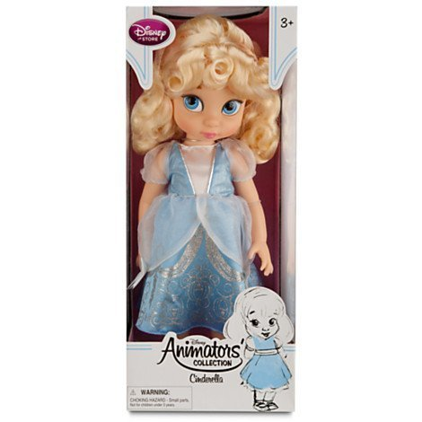 Disney Princess Animators' Collection Toddler Doll 16'' H - Cinderella with Plush Friend Jaq by Disney