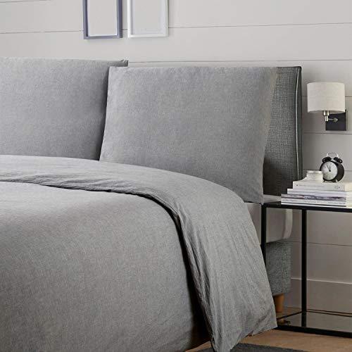 Bedsure Baumwolle Bettwäsche 135x200cm Grau Preisvergleich