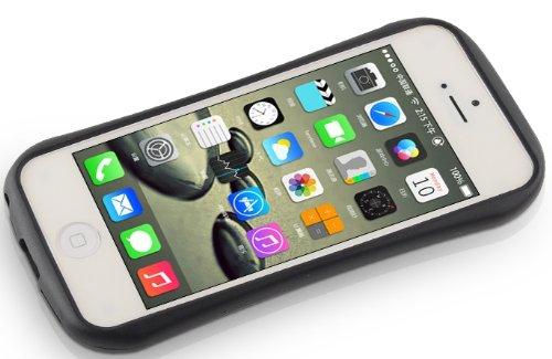 JAMMYLIZARD | Hülle für [ iPhone 5 / 5s und iPhone SE ] mit Retro Labyrinth Spiel, BLAU / ROT iCurve - NEONGRÜN