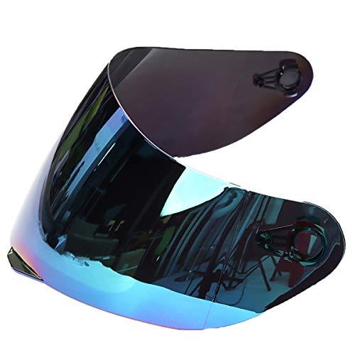 Preisvergleich Produktbild Lorsoul Motorrad-Motocross-Wind-Schild Helm voller Gesichts-Anti-UV-Anti-Fog-Objektiv Visier für 316.902 AGV K5 K3SV Farbe Random