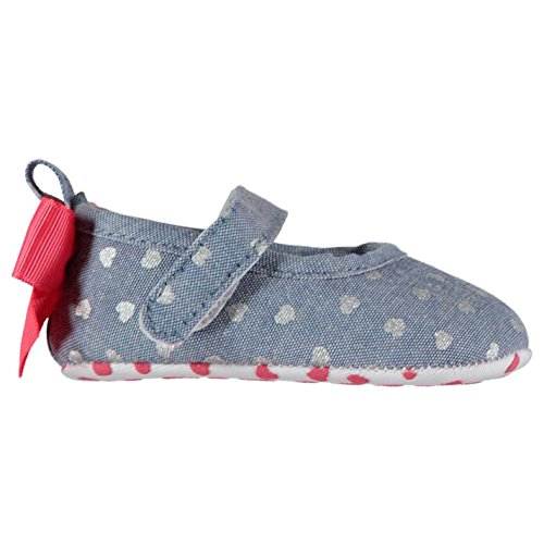 Crafted Baby Maedchen Krabbelschuhe Schuhe Hausschuhe Herz Muster Schleife Denim 3-6 Mnth (Braune Booties)
